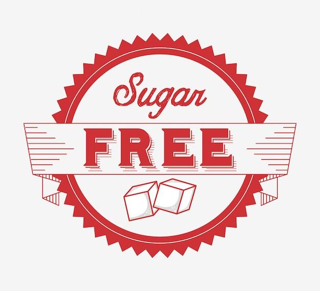 Zuckerfreies band Premium Vektoren