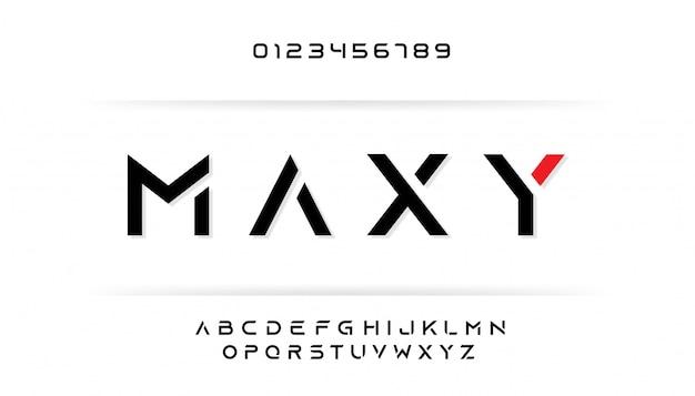 Zugeschnittenes alphabet für großbuchstaben Premium Vektoren