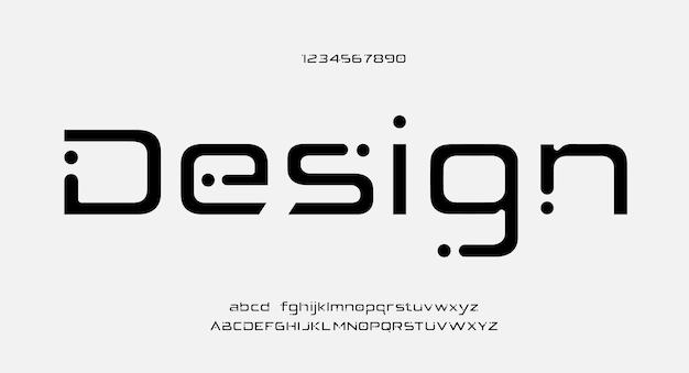 Zukünftige schrift kreative kreative alphabet-schriften Premium Vektoren