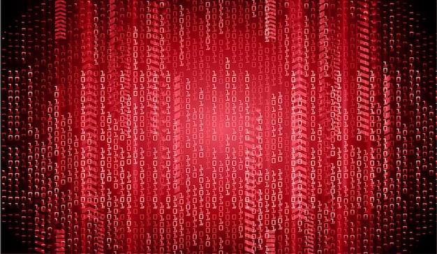Zukünftiger technologiekonzepthintergrund des roten cyber-stromkreises Premium Vektoren