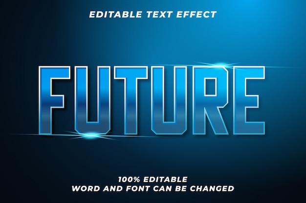 Zukünftiger textstileffekt Premium Vektoren