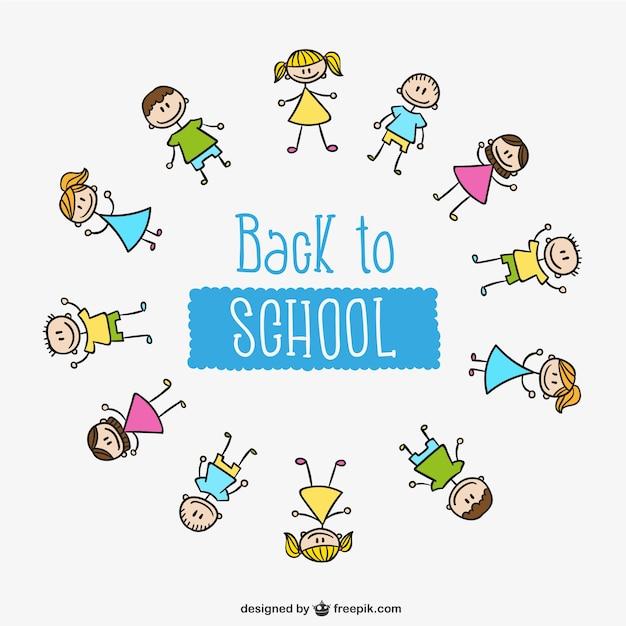 Kinderkreis clipart  Zurück in der Schule Kinder Kreis | Download der kostenlosen Vektor