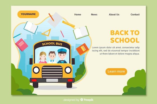 Zurück zur landingpage der schule Kostenlosen Vektoren