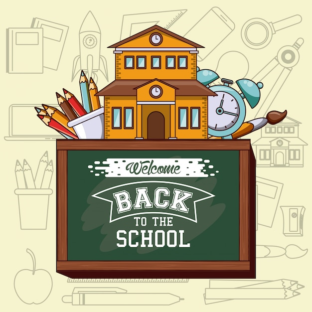 Zurück zur schule Kostenlosen Vektoren