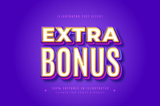 Zusätzlicher bonus-texteffekt Kostenlosen Vektoren