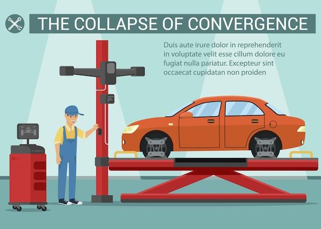 Zusammenbruch der konvergenz Premium Vektoren