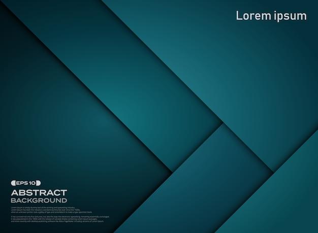 Zusammenfassung des blauen papiers der steigung schnitt musterhintergrund. Premium Vektoren