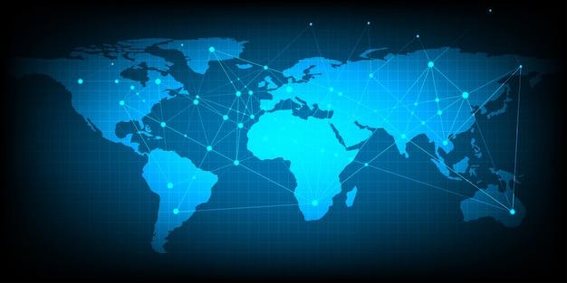Zusammenfassung des weltnetzkonzeptes des globalen geschäfts unter verwendung als hintergrund und tapete. Premium Vektoren