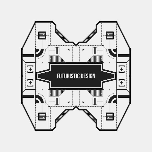 Zusammenfassung Futuristische Design Element Vorlage Nützlich Für