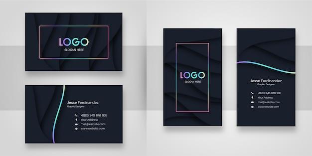 Zusammenfassung gebogene form-visitenkarte-schablone Premium Vektoren