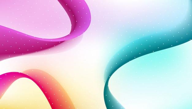 Zusammenfassung gebogene purpur und blaue linien hintergrund. Premium Vektoren