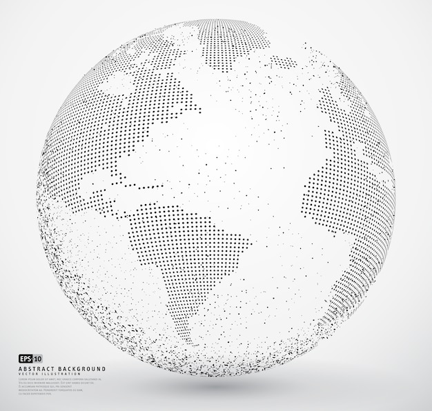 Zusammenfassung gepunktete globus erde Premium Vektoren