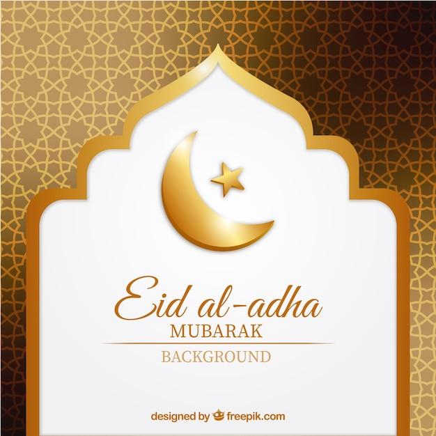 Zusammenfassung goldenen Hintergrund von Eid al-Adha Kostenlose Vektoren