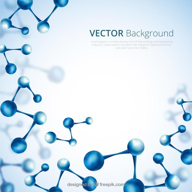 Zusammenfassung hintergrund der blauen moleküle Kostenlosen Vektoren