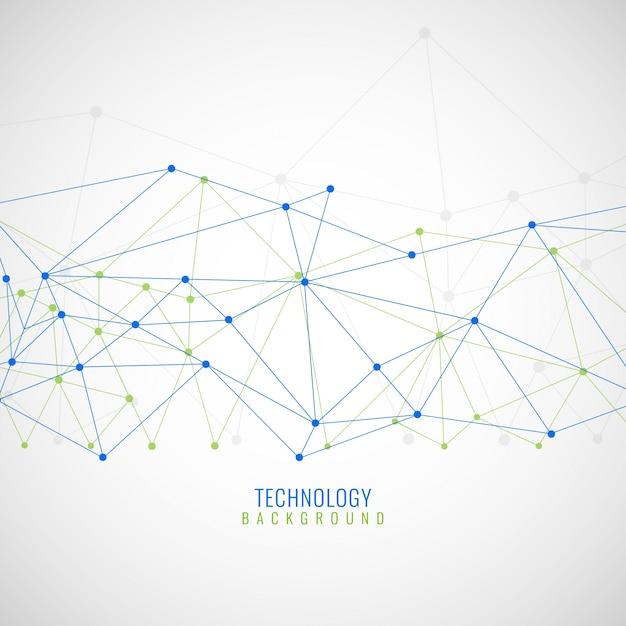 Zusammenfassung hintergrund mit linien und punkte, technologische Kostenlosen Vektoren