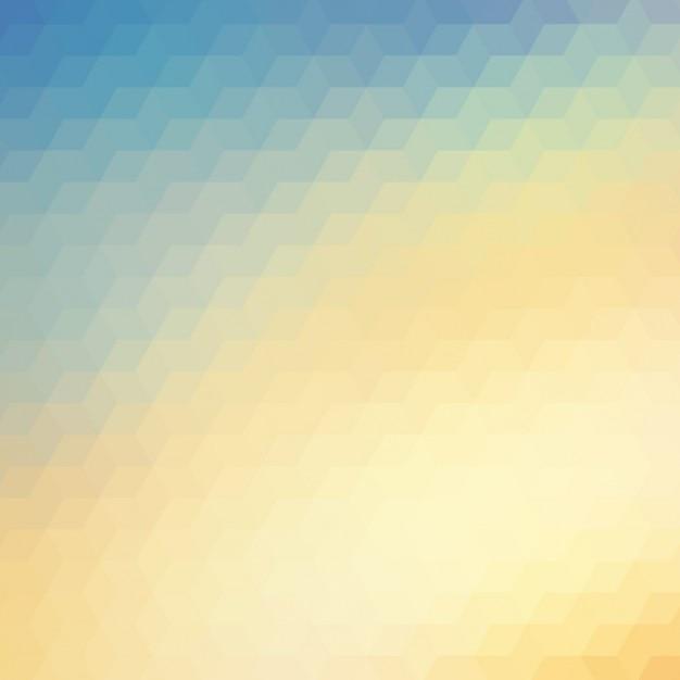 Zusammenfassung polygonal hintergrund in den blauen und gelben tönen Kostenlosen Vektoren