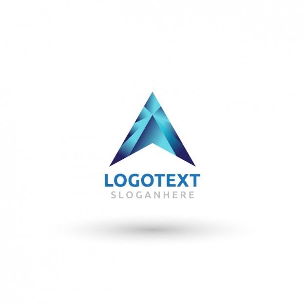 Zusammenfassung steigung logo des buchstaben a Kostenlosen Vektoren