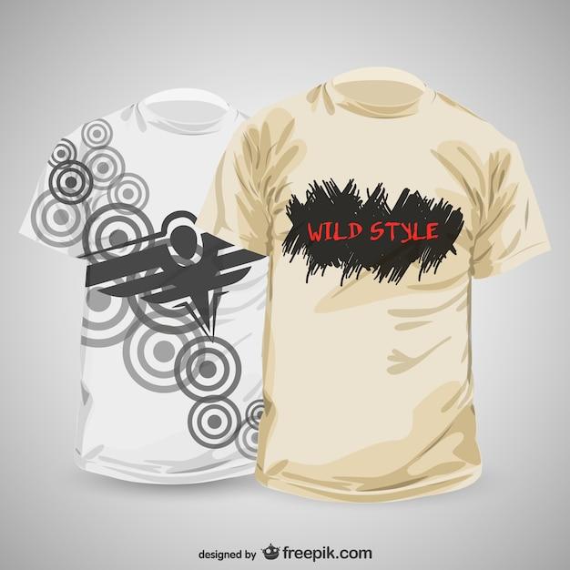 Zusammenfassung T-Shirt Design-Vorlage | Download der kostenlosen Vektor