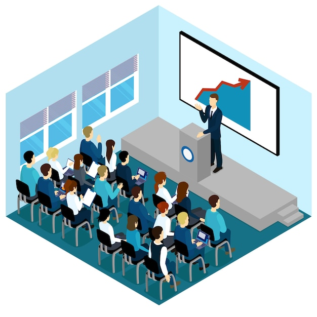 Zusammensetzung der isometrischen trainingsvorlesungen Kostenlosen Vektoren