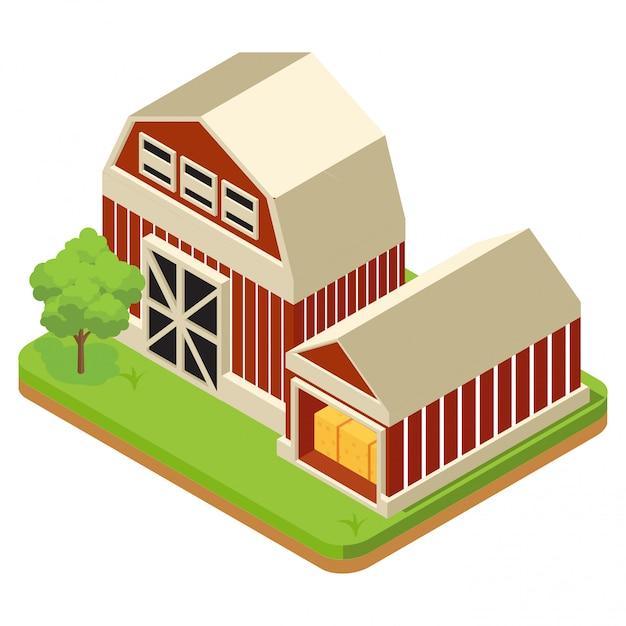 Zusammensetzung der landwirtschaft Premium Vektoren