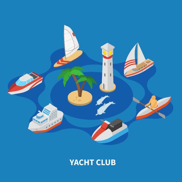 Zusammensetzung der yachtclubrunde Kostenlosen Vektoren