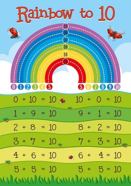 Zusätzliches Arbeitsblatt mit Regenbogen im Hintergrund | Download ...