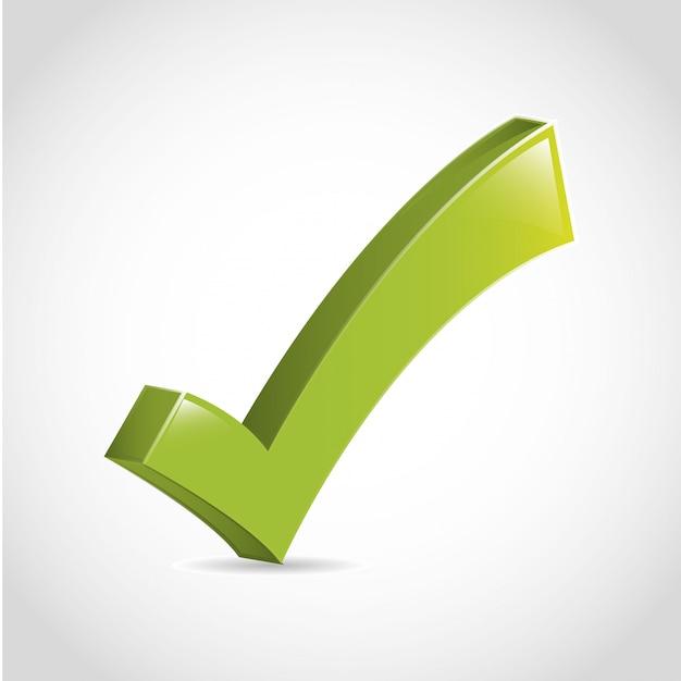 Zustimmungsikone über weißer hintergrundvektorillustration Premium Vektoren