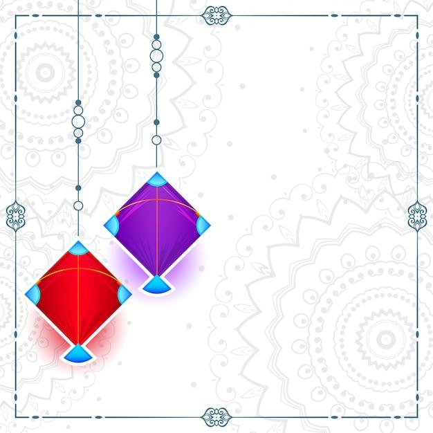 Zwei drachen auf weiß mit textraum-kartendesign Kostenlosen Vektoren