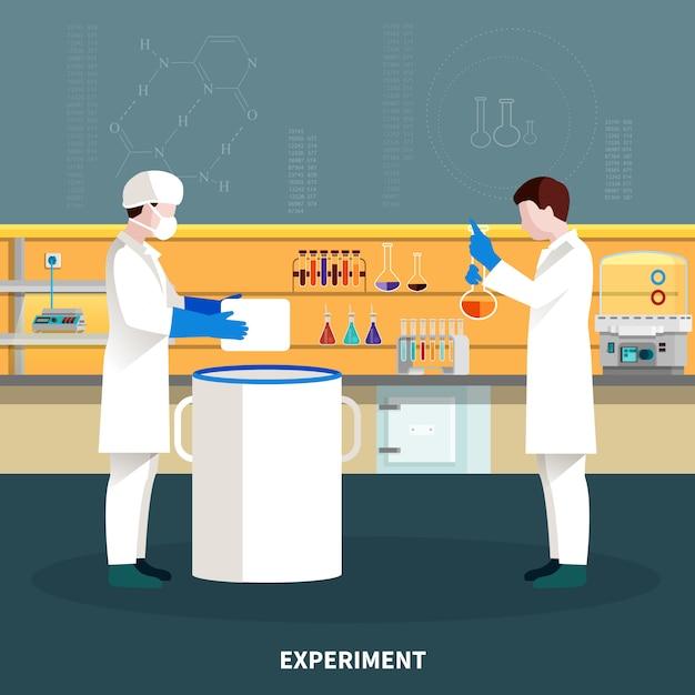 Zwei wissenschaftler-leute-zusammensetzung Kostenlosen Vektoren