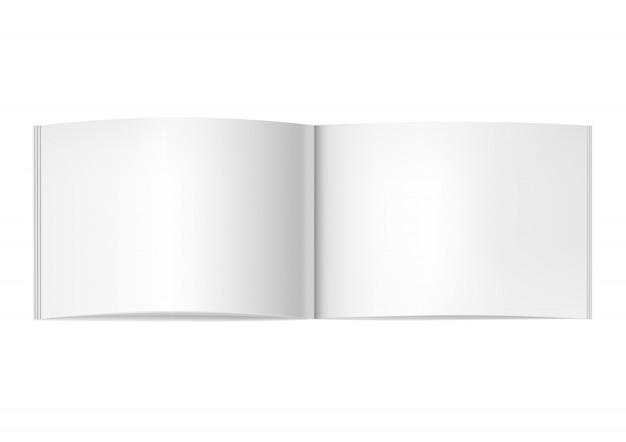 Zweiseitig geöffnetes horizontales zeitschriftenmodell Premium Vektoren
