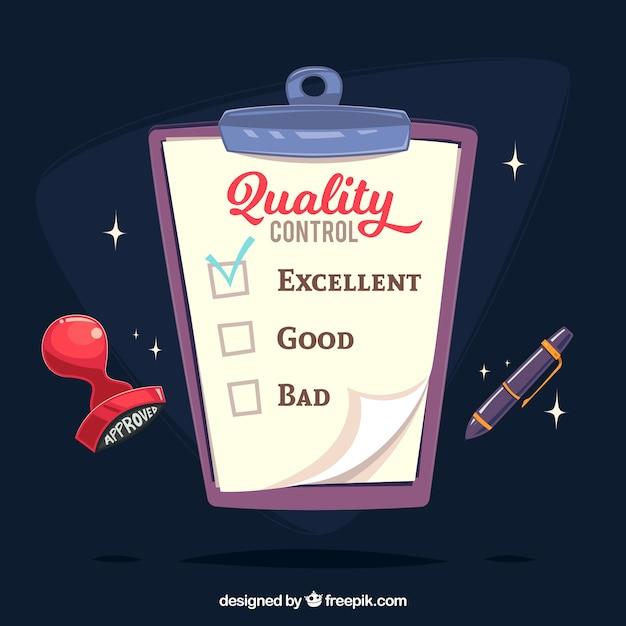 Zwischenablage mit qualitätskontrolle dokument Kostenlosen Vektoren