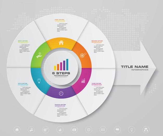 Zyklus- und pfeildiagramm infographic für datendarstellung Premium Vektoren