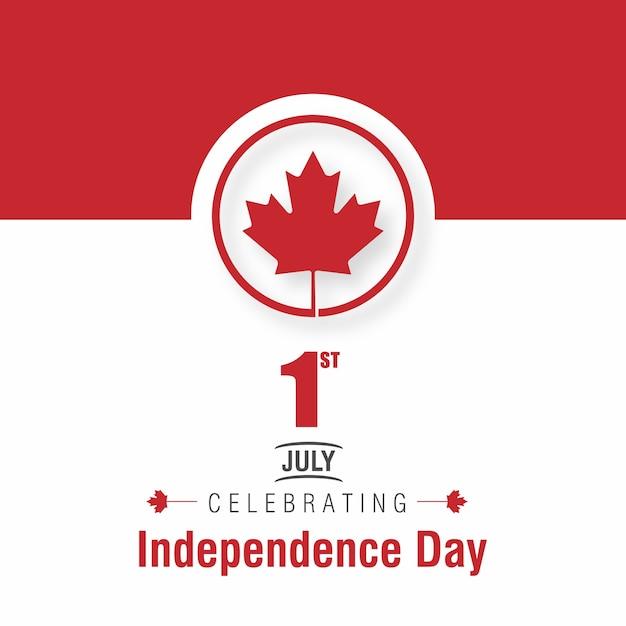 1 de julho bandeira feliz de canadá do dia de canadá Vetor grátis