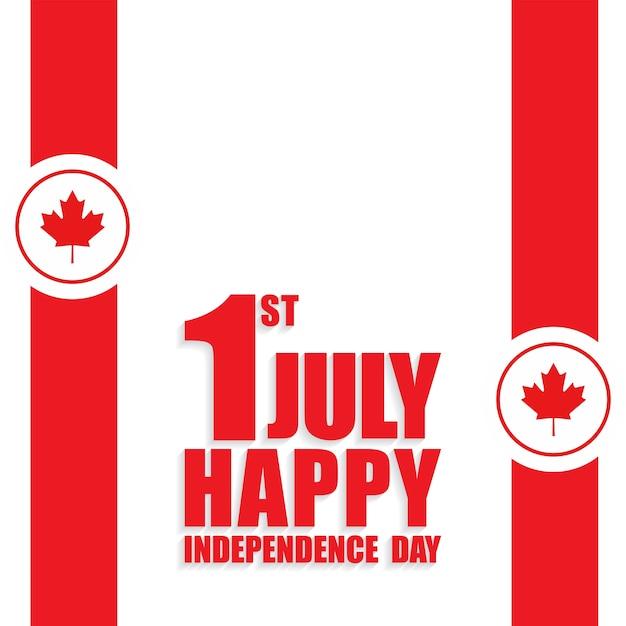 1 de julho dia feliz do canadá bandeira da bandeira do canadá no fundo branco Vetor grátis