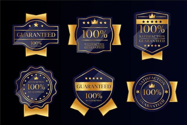 100% garantia de coleta de crachás Vetor Premium