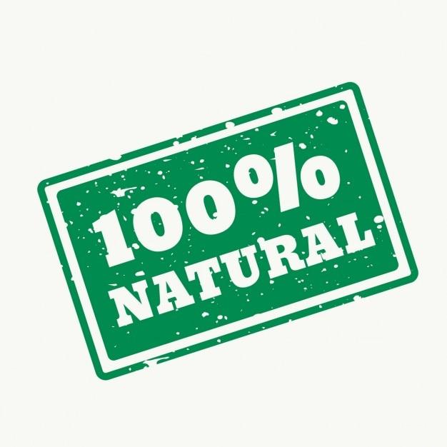 100 selo natural no vector Vetor grátis