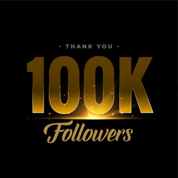 100k seguidores e conexões da rede de mídia social Vetor grátis