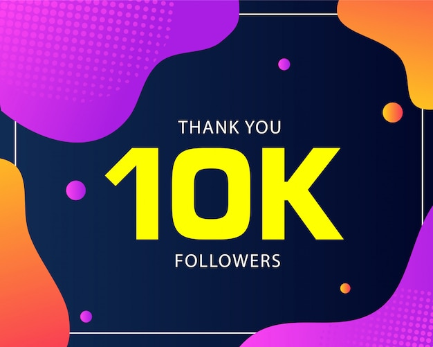 10k seguidores abstrato Vetor Premium