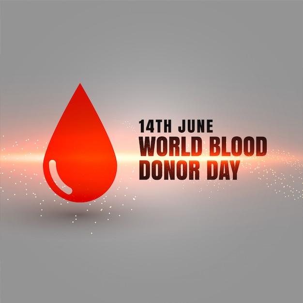 14 de junho cartaz do evento do dia mundial dos doadores de sangue Vetor grátis
