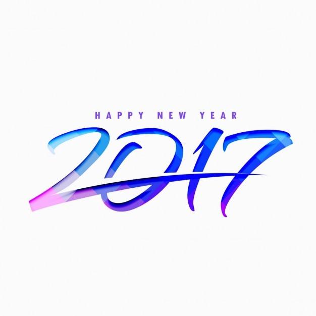 2017 estilo de texto com formas azuis abstratos Vetor grátis