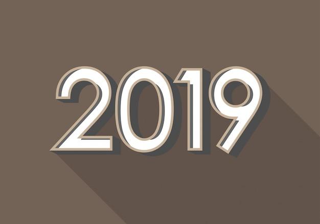 2019 feliz ano novo fundo para a tampa do calendário e cartão de cumprimentos. Vetor Premium
