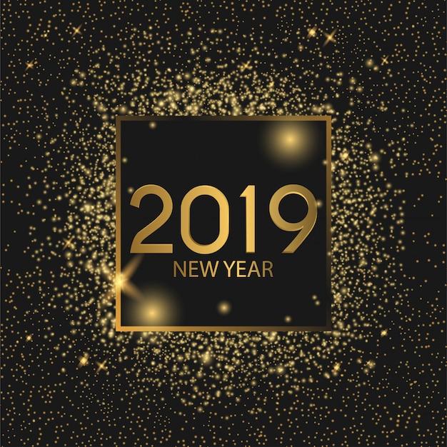 2019 feliz ano novo Vetor Premium