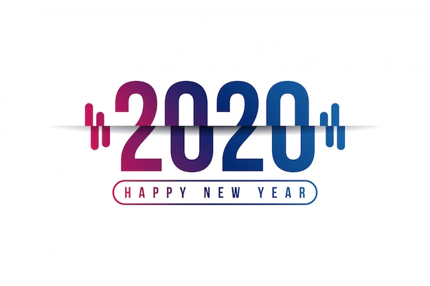 2020 feliz ano novo fundo Vetor Premium