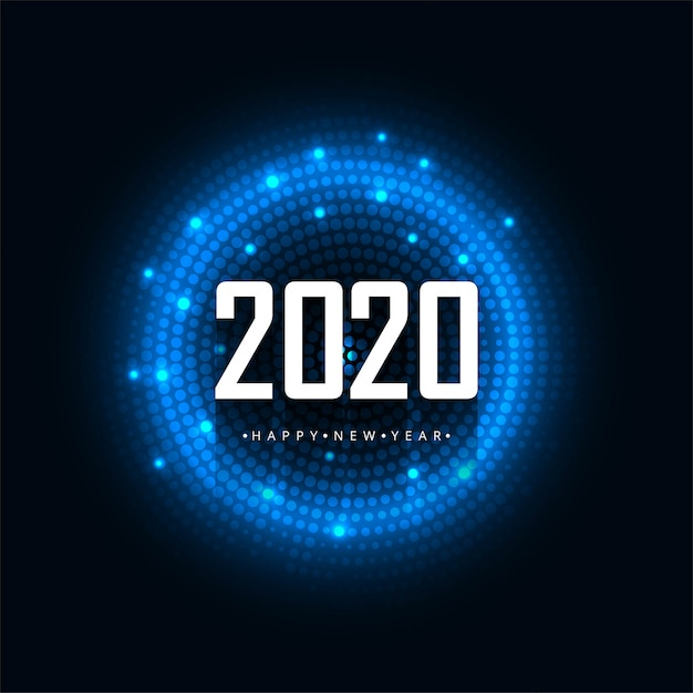 2020 feliz ano novo vetor Vetor grátis
