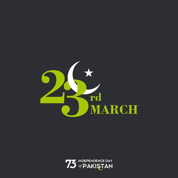 23 de março no dia do paquistão Vetor Premium