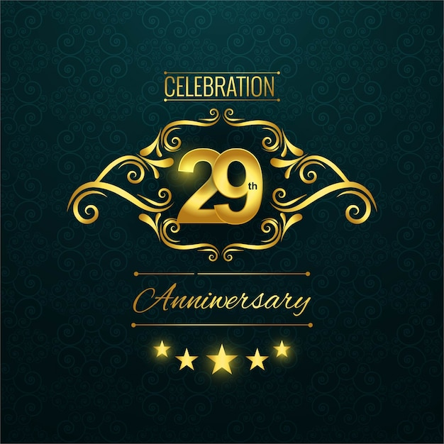 29º aniversário Vetor grátis