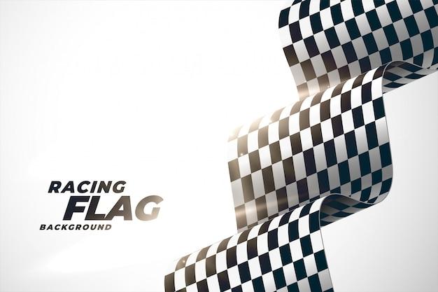 3 d corrida fundo bandeira ondulada Vetor grátis