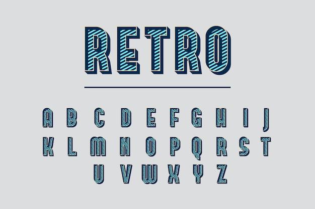 3 d retro conceito alfabético Vetor grátis