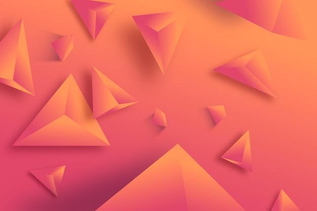 3 d triângulo fundo monocromático cor vívida Vetor grátis