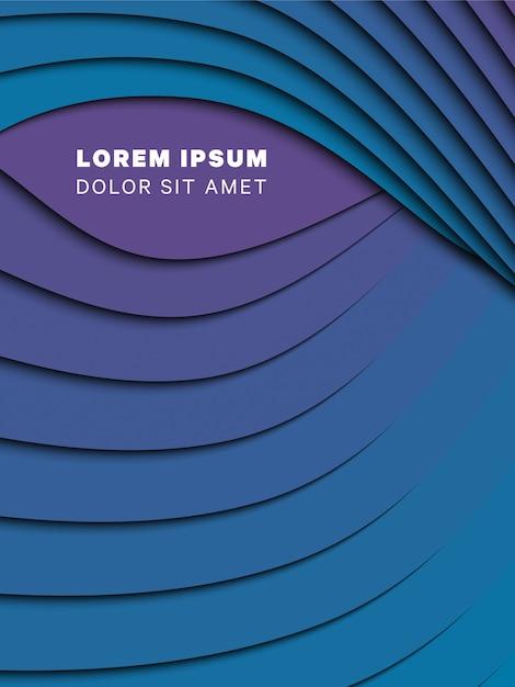 3d abstrato com ondas de corte de papel. layout de design de vetor para apresentação, panfleto, cartaz, banner Vetor Premium
